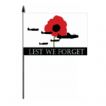 Lest We Forget RAF Hand Flag - Medium